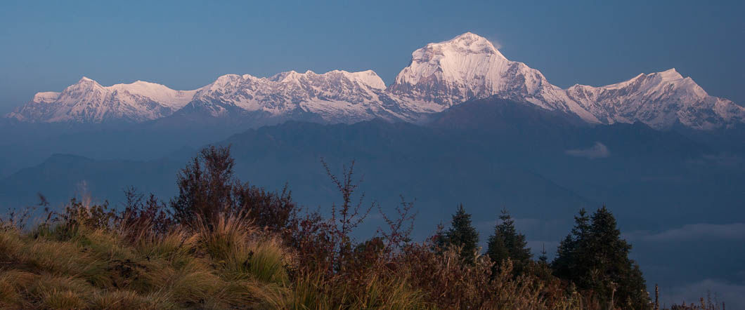 Bus to Tatopani and trek to Poon Hill