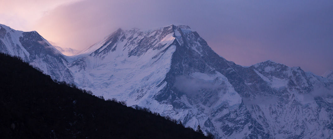 Sunrise view of manaslu bhimtang