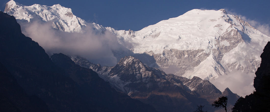 Langtang lirung from near ghora tabela